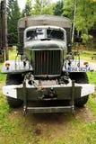 La vista frontale storica del camion di esercito 6x6 del Soviet ZIL 157 Immagini Stock