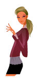 Vista laterale della donna illustrazione vettoriale