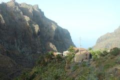La vista más hermosa y más impresionante de Masca, Tenerife, España Imágenes de archivo libres de regalías