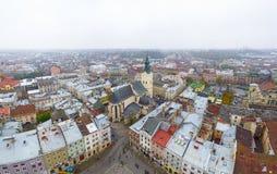 La vista panorámica de Lviv, Ucrania 02 Foto de archivo libre de regalías