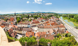 La vista panorámica de Melk localizó en una Austria más baja Fotografía de archivo libre de regalías