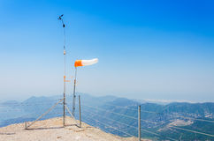La vista panoramica dalla montagna di Olympos Fotografia Stock