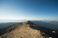 La vista panoramica dalla montagna di Olympos Fotografie Stock Libere da Diritti