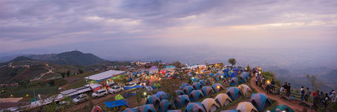 La vista panoramica del buek del thap di Phu prima dell'alba, questo posto è schiocco Fotografia Stock Libera da Diritti