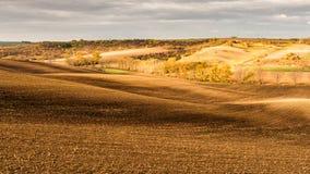 La vista panoramica dell'agricoltura sistema, paesaggio della natura Immagini Stock Libere da Diritti