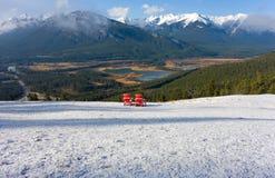 La vista sbalorditiva da un'allerta al parco nazionale di banff Immagine Stock