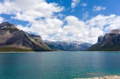 La vista sbalorditiva da un'allerta al parco nazionale di banff Immagini Stock