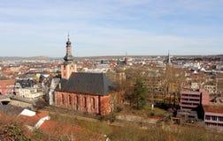 La vista sopra Bad Kreuznach Fotografia Stock Libera da Diritti