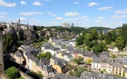 La vista sopra il Lussemburgo Fotografie Stock Libere da Diritti