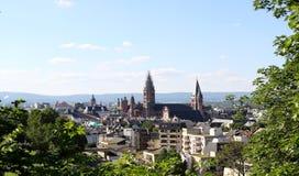 La vista sopra Mainz Fotografia Stock Libera da Diritti