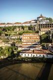 La vista sopra Mosteiro da Serra fa Pilar da Oporto, Portogallo Fotografie Stock