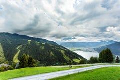 La vista sopra Zeller vede il lago Zell vede, l'Austria, Europa Immagini Stock
