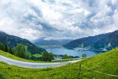 La vista sopra Zeller vede il lago Zell vede, l'Austria, Europa Fotografie Stock Libere da Diritti