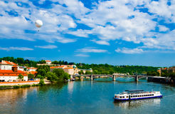 La vista su estate Praga Immagine Stock Libera da Diritti