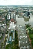 La vista sui media Harbour a Dusseldorf Fotografia Stock Libera da Diritti