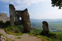 La vista sul castello Ostry Kamen Fotografia Stock