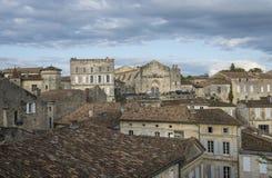 La vista sul centro alloggia Saint Emilion Fotografia Stock Libera da Diritti