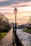 La vista sul fiume Pakra da passeggiata localmente ha chiamato Venezia fotografie stock libere da diritti
