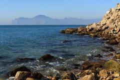 La vista sul mare. Immagine Stock