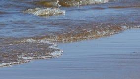 La vista sul mare ondeggia il movimento lento archivi video