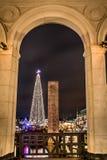 La vista sul Natale nostalgico commercializza Amburgo Fotografie Stock Libere da Diritti