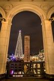 La vista sul Natale nostalgico commercializza Amburgo Immagine Stock Libera da Diritti
