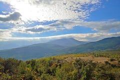 La vista sul plateau nella valle dei fantasmi Immagine Stock