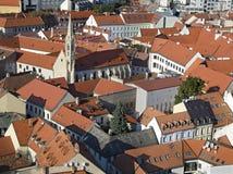 La vista superior de la ciudad vieja de Bratislava Fotografía de archivo