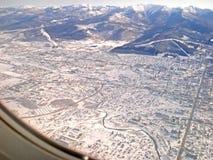 La vista superiore dall'aereo Fotografie Stock Libere da Diritti