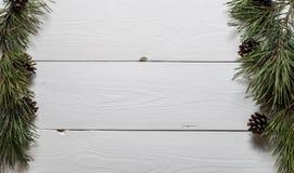 La vista superiore del telaio di abete si ramifica Fotografia Stock
