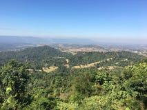 La vista superiore della montagna Immagini Stock Libere da Diritti
