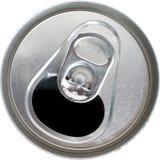 La vista superiore di uno schiocco di soda d'argento aperto può Fotografia Stock Libera da Diritti