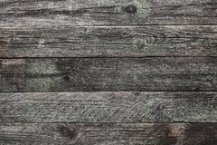 La vista superiore e superiore di un grigio chiaro, tempo ha invecchiato il fondo di legno della lavagna in vecchio Fotografie Stock Libere da Diritti