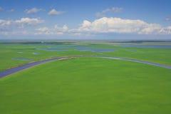 La vista superiore sul fiume Immagine Stock Libera da Diritti