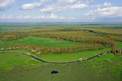 La vista superiore sul fiume Fotografia Stock