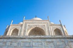 La vista vicina del monumento di Taj Mahal, India Immagini Stock
