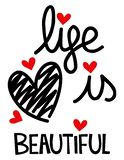 La vita è bello cuore illustrazione vettoriale