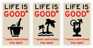 La vita è buona illustrazione vettoriale