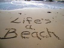 La vita è una spiaggia Fotografia Stock Libera da Diritti