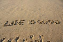 La vita è buona Immagine Stock