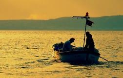 La vita dei pescatori Fotografia Stock