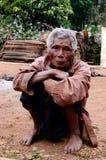 La vita del paesano di Karen nel villaggio di povertà. Immagini Stock