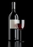 La vita del vino rosso ancora si sbiadice per annerire Fotografia Stock Libera da Diritti