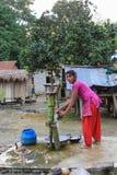 La vita della famiglia originale di Tanu in chitwan, il Nepal Fotografia Stock Libera da Diritti