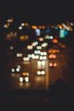La vita notturna è strada molto bella Fotografie Stock Libere da Diritti