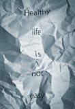 La vita sana è facile! Fotografie Stock Libere da Diritti