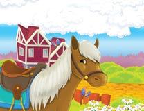 La vita sull'azienda agricola - illustrazione per i bambini Fotografia Stock Libera da Diritti