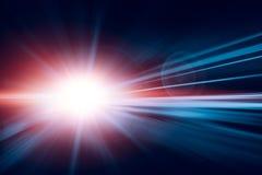 La vitesse rapide de tache floue accélèrent la haute exécutent le résumé pour le fond image libre de droits