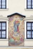 La vivienda del siglo XV de la familia del ½ s del ¿de Cellarichï llamó bajo pintura, vaina Obrazem, hotel Wentzl, Rynek Glowny d Fotografía de archivo libre de regalías