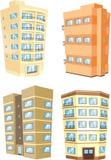La vivienda exterior de los apartamentos de la arquitectura del edificio fijó 1 libre illustration